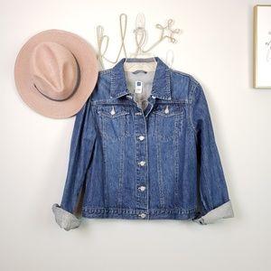 Gap Denim Jean Button Front Jacket